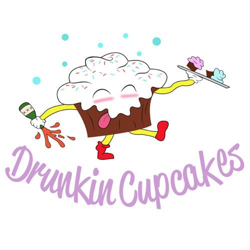 Drunkin Cupcakes Logo design